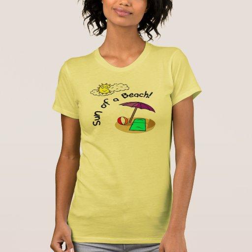 Sun de una playa camiseta