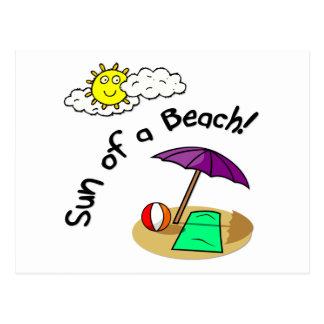 Sun de una playa postal