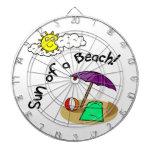 Sun de una playa tablero de dardos