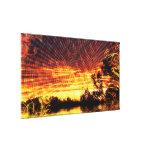 Sun Decor Sunset Fantasy Art  Wrapped Canvas Canvas Print