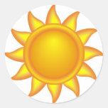 sun. decorativo pegatina redonda