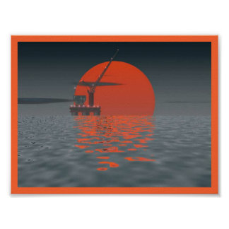 Sun del mar aceitoso poster