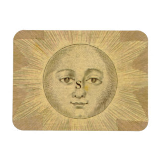 Sun Detail from Antique Bowles Map, circa 1780 Magnet