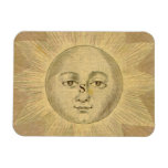 Sun Detail from Antique Bowles Map, circa 1780 Rectangle Magnets