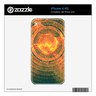 Sun Disk Fractal Decals For iPhone 4