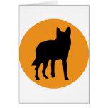 sun dog wolf icon greeting card
