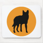 sun dog wolf icon mouse pad