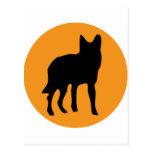 sun dog wolf icon postcard