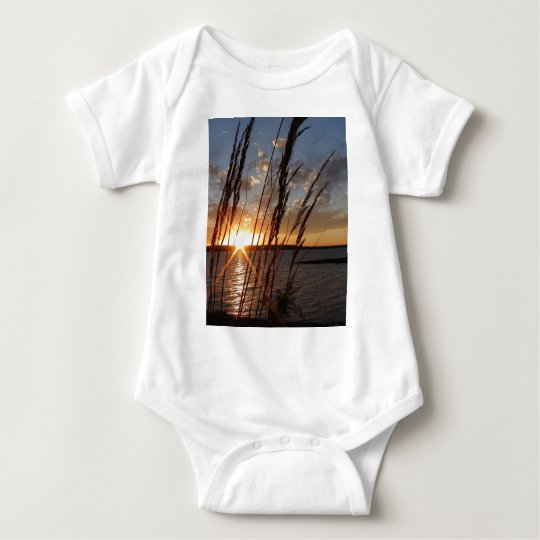 Sun Down at the Lake Baby Bodysuit