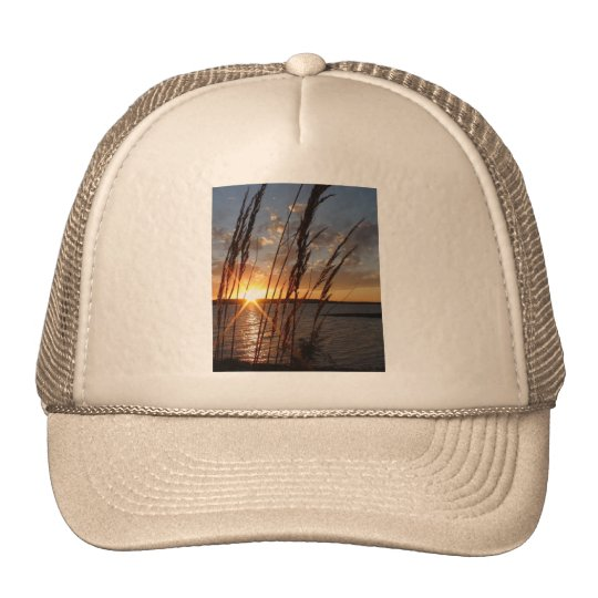 Sun Down at the Lake Trucker Hat