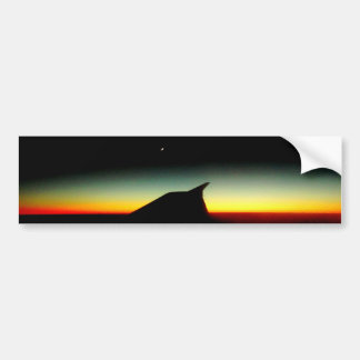 Sun Down Car Bumper Sticker