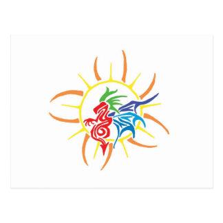 Sun dragon postcard