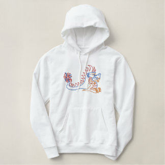 Sun Dragon sports  Couch Dragon Embroidered Hoodie