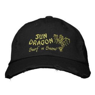 Sun Dragon  Surf and Snow Embroidered Baseball Cap