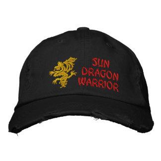 Sun, Dragon, Warrior Embroidered Baseball Cap