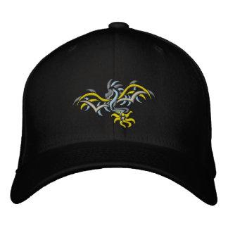 sun dragon  yellow sun embroidered baseball cap