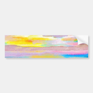 Sun Drama 2 Ocean Sea Lovers Colorful Art Bumper Sticker