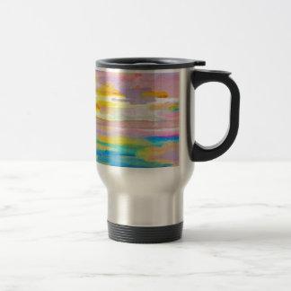 Sun Drama 2 Ocean Sea Lovers Colorful Art Travel Mug