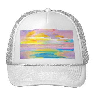 Sun Drama 2 Ocean Sea Lovers Colorful Art Trucker Hat