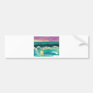Sun Drama in the Ocean Waves Seascape Bumper Sticker