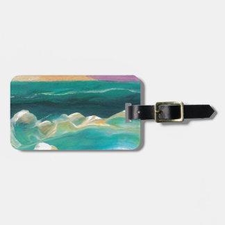 Sun Drama in the Ocean Waves Seascape Bag Tags