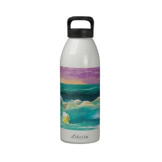 Sun Drama in the Ocean Waves Seascape Drinking Bottles