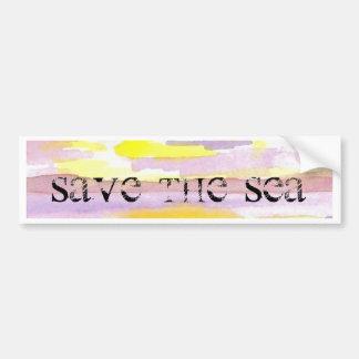 Sun Drama Save the Sea CricketDiane Ocean Products Car Bumper Sticker