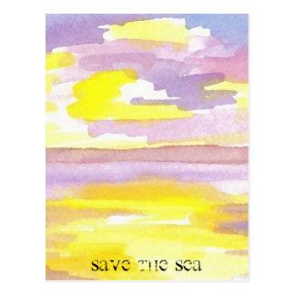 Sun Drama Save the Sea CricketDiane Ocean Products Postcard