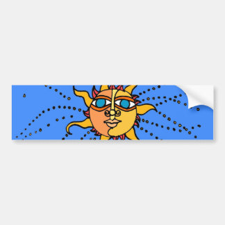Sun Drawing Bumper Sticker