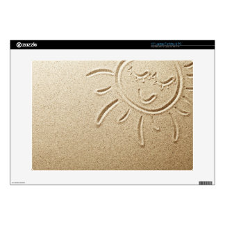 "Sun Drawn In The Sand Decals For 15"" Laptops"