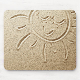 Sun Drawn In The Sand Mouse Pad