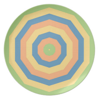 Sun Drenched Circles of Colors Melamine Plate