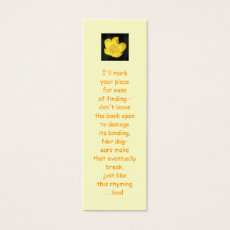 Sun Drenched Golden Buttercup Mini Business Card