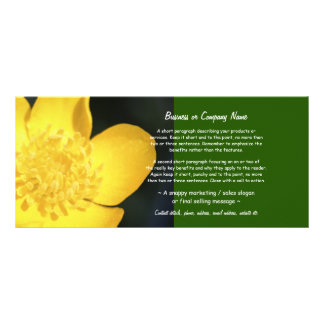 Sun Drenched Golden Buttercup Rack Card