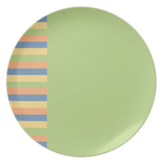 Sun Drenched Green with Striped Colors Plate