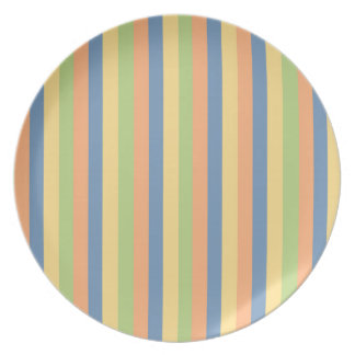 Sun Drenched Striped Colors Dinner Plate