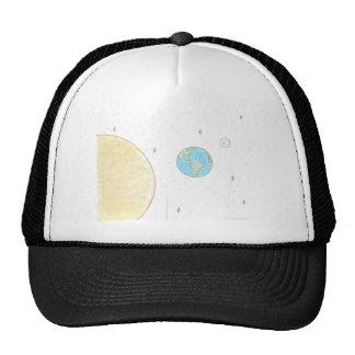Sun Earth and Moon Trucker Hat