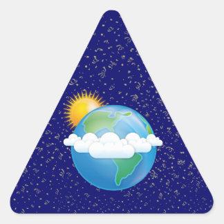 Sun & Earth - Triangle Sticker