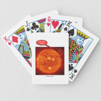 Sun Earth You Are Here Astronomy Humor Bicycle Playing Cards