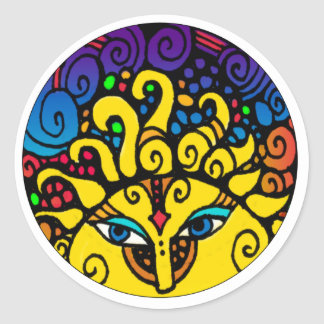 Sun / El Sol whimsical 20 count stickers
