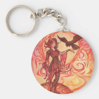 Sun Elf Basic Round Button Keychain