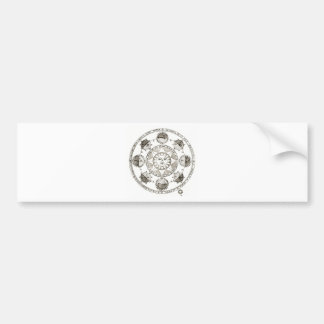 Sun ellipse design bumper sticker
