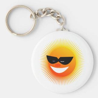 sun  emotion basic round button keychain
