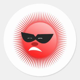 sun  emotion classic round sticker