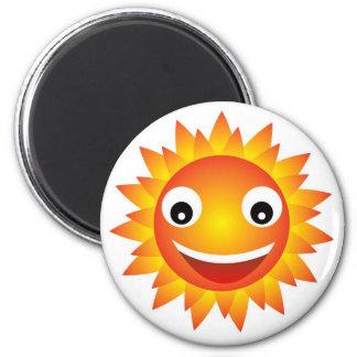 sun  emotion 2 inch round magnet