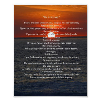 Sun en el océano lo hace de todos modos poster