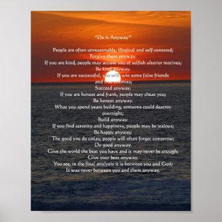 """Sun en el océano 'lo hace de todos modos """" póster"""