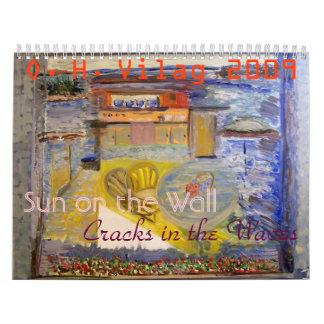Sun en la pared, Sun en la pared, grietas en… Calendarios De Pared