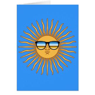 Sun en sombras tarjeta de felicitación