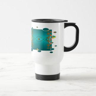 Sun en taza de café del modelo de la manta del